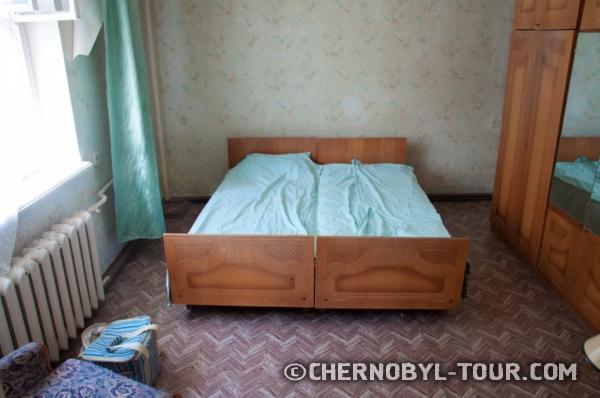 """Спальня в гостинице """"Припять"""" в г. Чернобыль"""